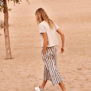 Madewell Huston Stripe Crop Pants